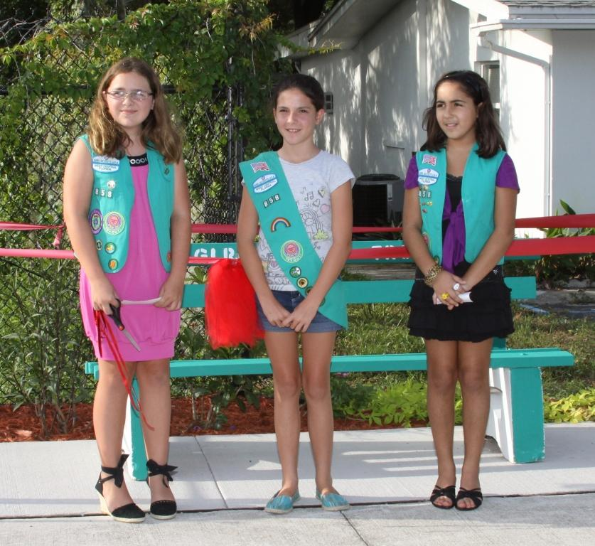 Girl scouts from troop 858