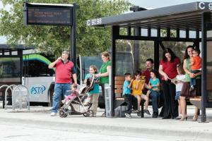 bus shelter group shot